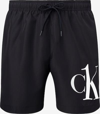 Calvin Klein Swimwear Badeshorts in schwarz / weiß, Produktansicht