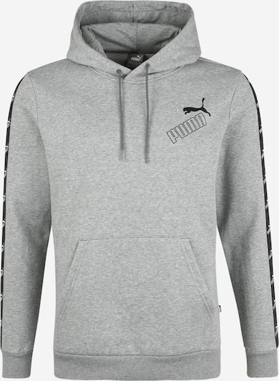 PUMA Sweatshirt 'AMPLIFIED' in graumeliert / schwarz / weiß, Produktansicht