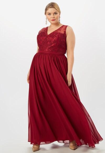 My Mascara Curves Suknia wieczorowa 'LACE V' w kolorze czerwone winom: Widok z przodu