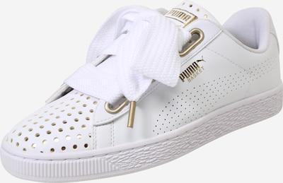 PUMA Sneaker 'Basket Heart Ath Lux' in gold / weiß: Frontalansicht