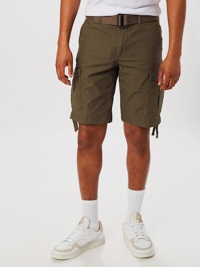 JACK & JONES Kargo hlače 'CHARLIE' | temno zelena barva, Prikaz modela