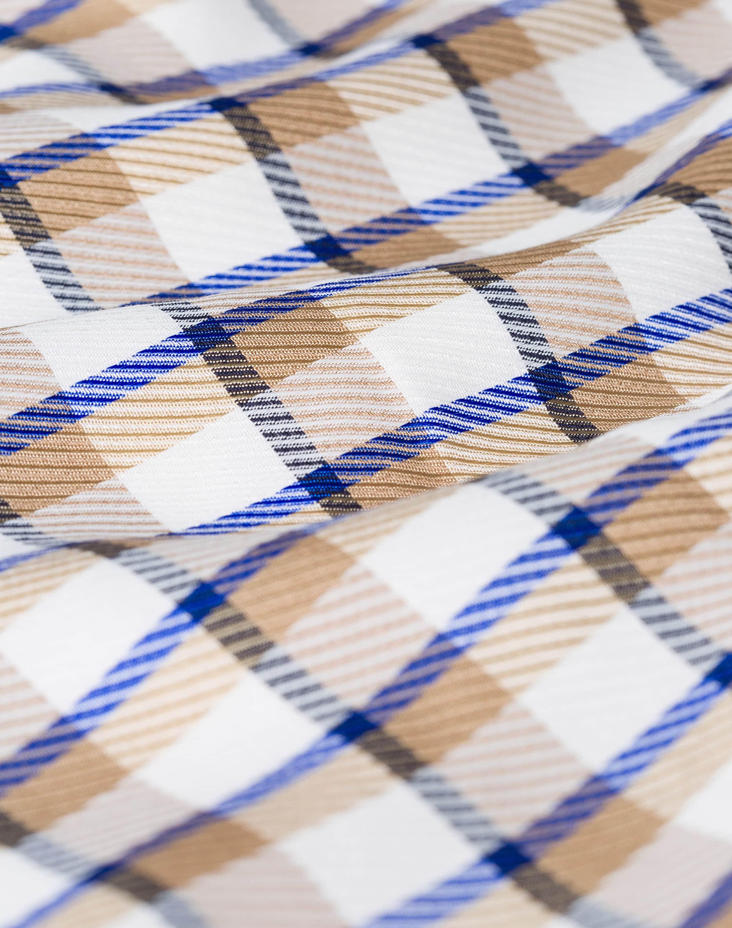 IVY OAK Robe en écru / bleu / blanc YH1gLV