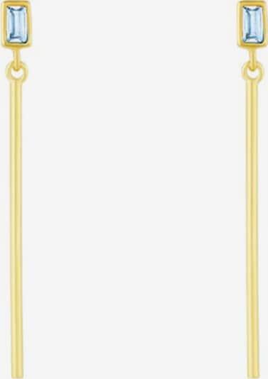 ID Fine Ohrringe  'Baguette' in hellblau / gold, Produktansicht