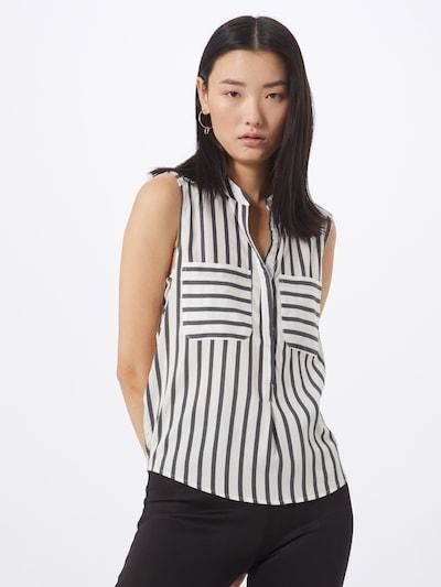 Bluză 'VMERIKA' VERO MODA pe negru / alb, Vizualizare model