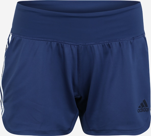 ADIDAS PERFORMANCE Sportbroek '3S WVN GYM SHRT' in de kleur Indigo / Wit, Productweergave