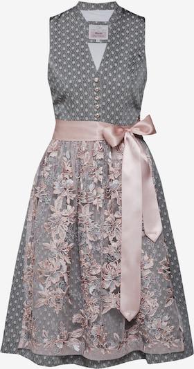 MARJO Dirndl in grau / rosa, Produktansicht