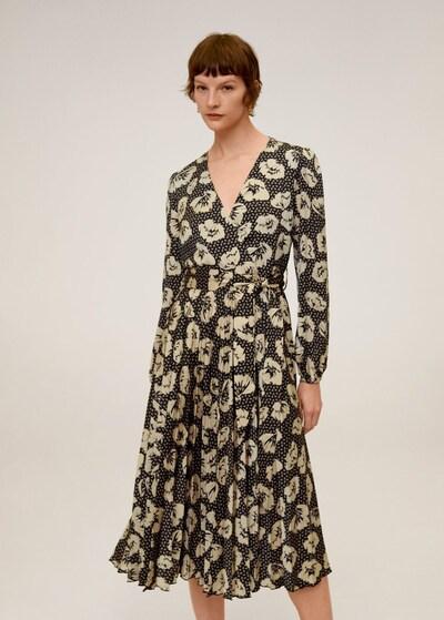 MANGO Kleid 'Nara' in beige / schwarz, Modelansicht