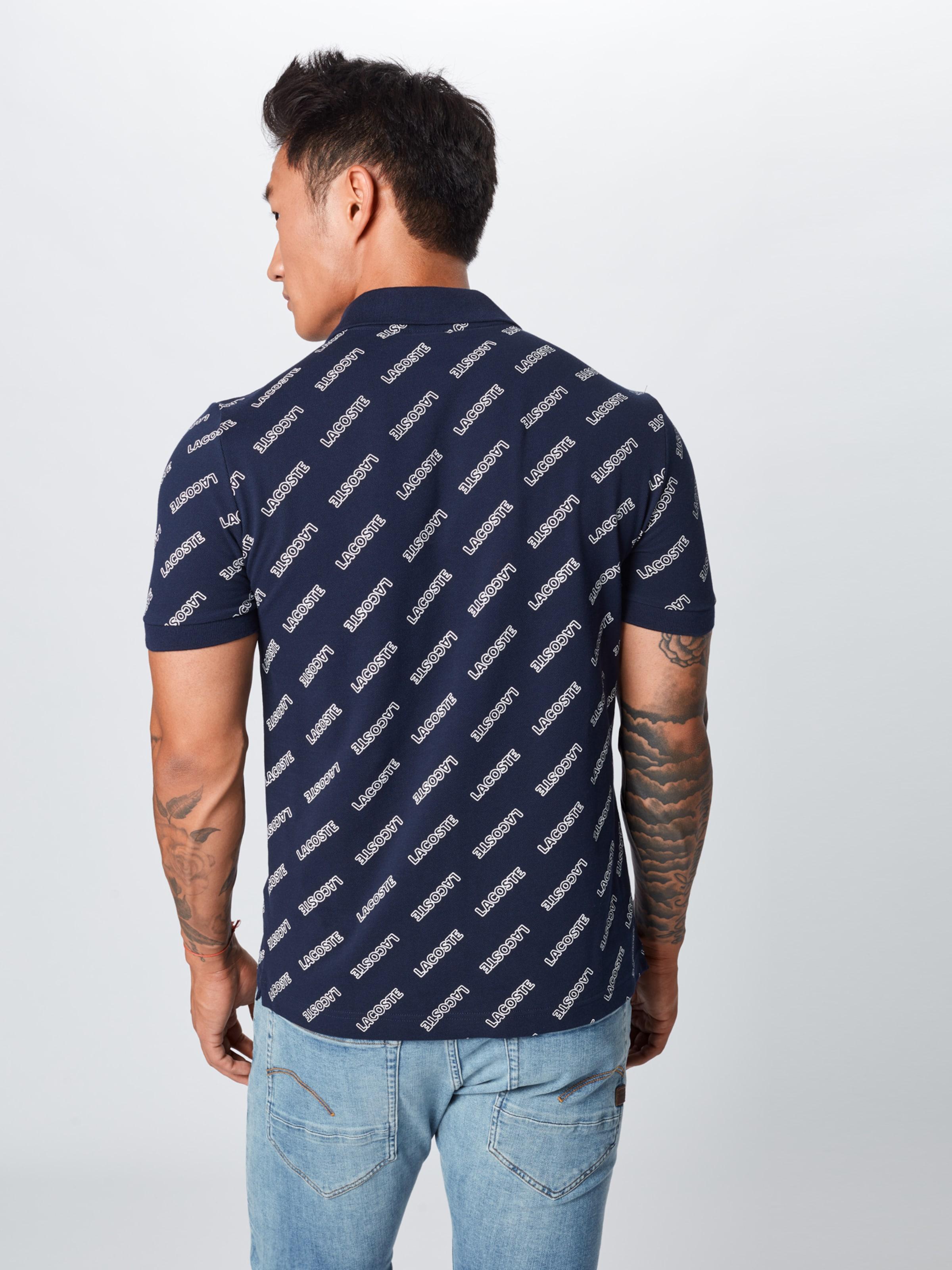 Live cotes T shirt 'chemise Bord Col Lacoste En MarineBlanc Ma' Ybf67Iygv