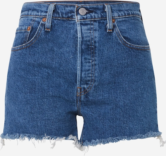 LEVI'S Shorts '501® HIGH RISE' in blue denim, Produktansicht