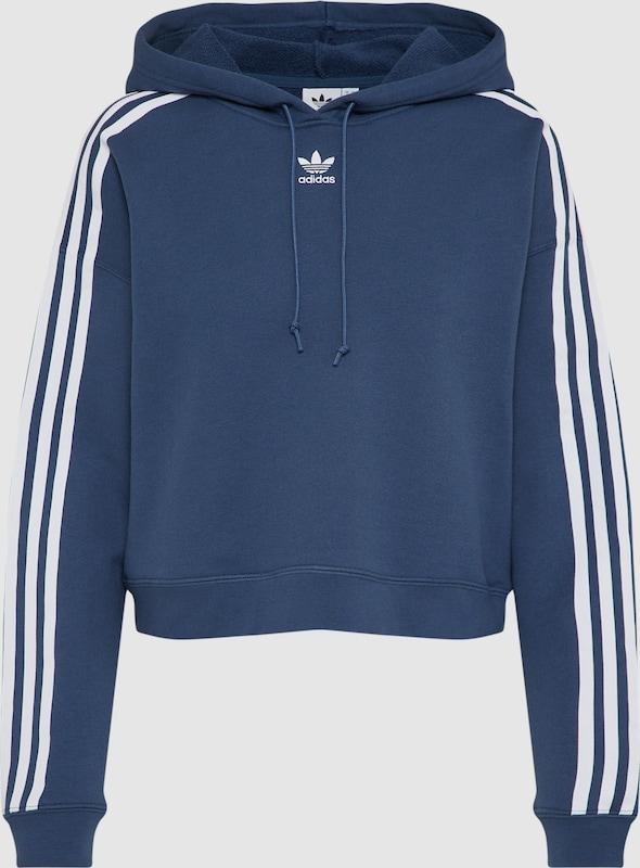 ADIDAS ORIGINALS Hoodie in taubenblau   weiß  Bequem und günstig