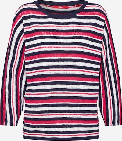 s.Oliver Pullover in navy / pink, Produktansicht