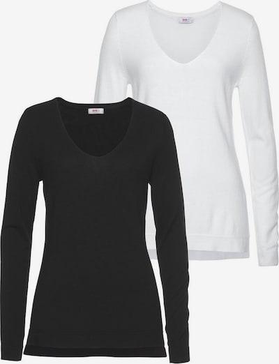 FLASHLIGHTS Strickpullover in schwarz / weiß, Produktansicht