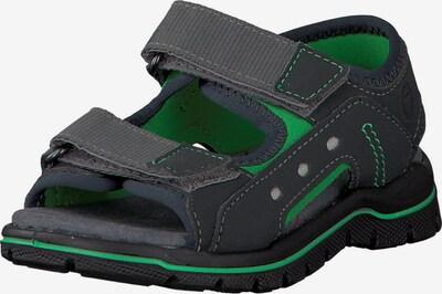 RICOSTA Sandalen 'Remo' in basaltgrau / grün, Produktansicht