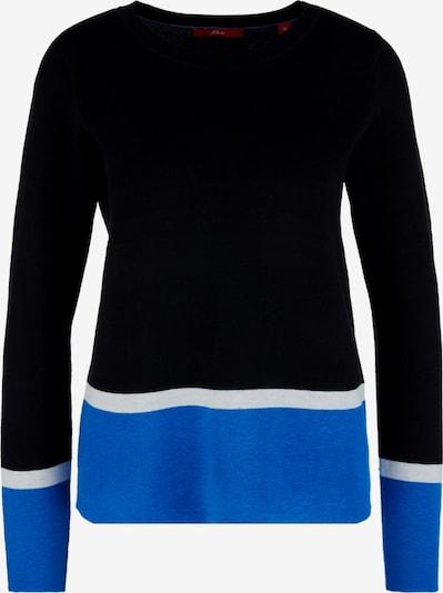 s.Oliver Pullover in blau / schwarz / weiß, Produktansicht