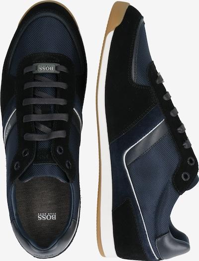 BOSS Sneaker 'Glaze' in dunkelblau / weiß: Seitenansicht