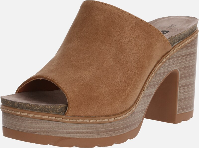 Refresh Clogs in de kleur Camel, Productweergave
