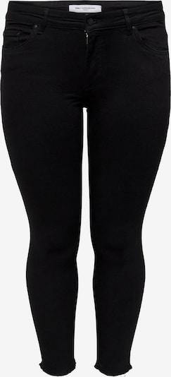 ONLY Carmakoma Jeans 'CARWILLY REG SK ANK RAW JNS' in schwarzmeliert, Produktansicht