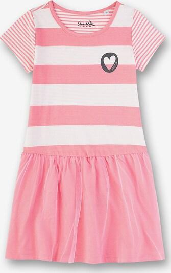 Sanetta Kidswear Jerseykleid in rosa / weiß, Produktansicht