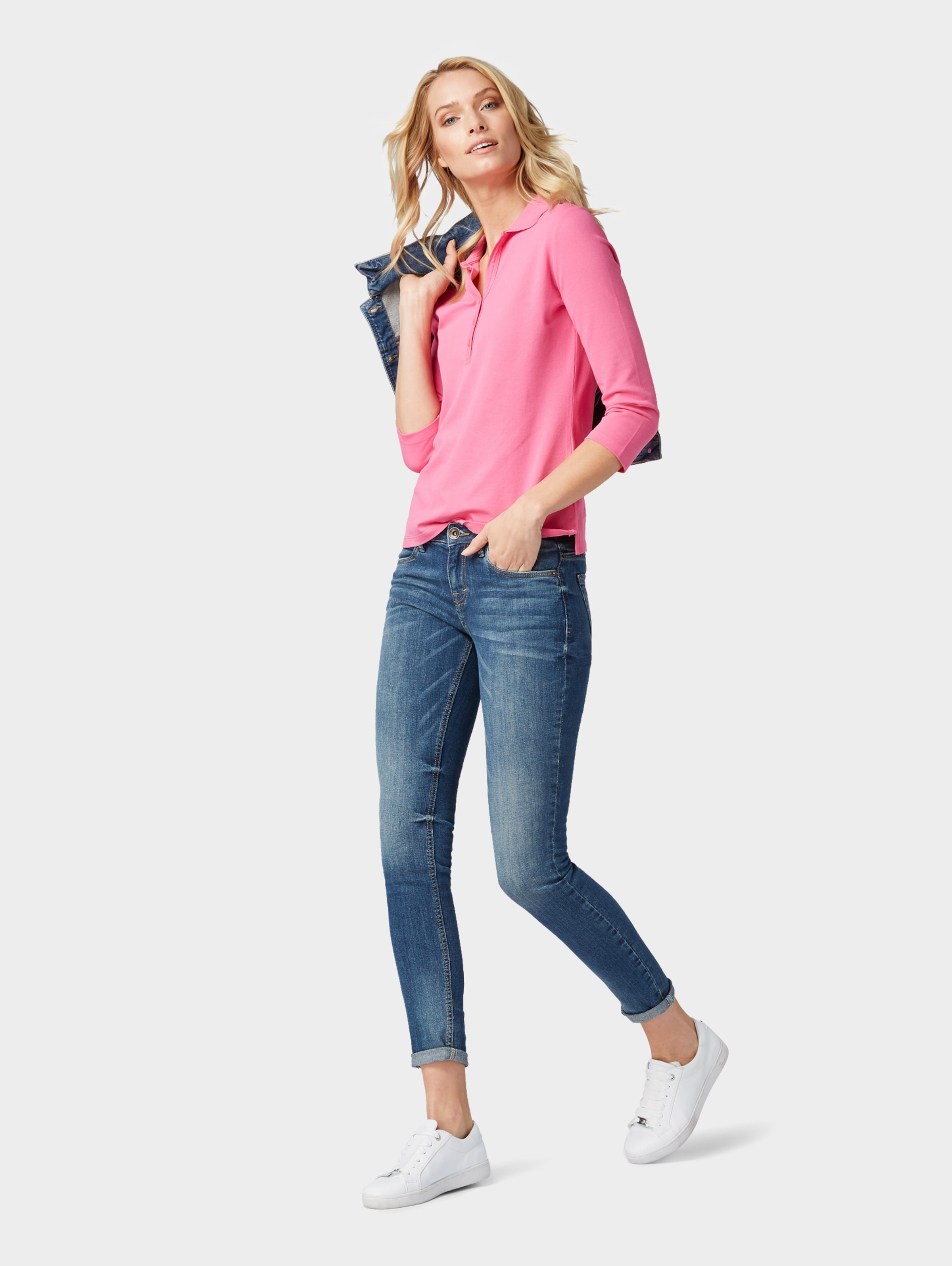 Poloshirt Tom Tailor Pink In 8nwmN0