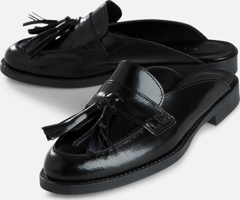 PIECES Leder Mule Schuhe