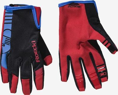 Roeckl SPORTS Fingerhandschuhe 'Mango' in royalblau / rot / schwarz, Produktansicht