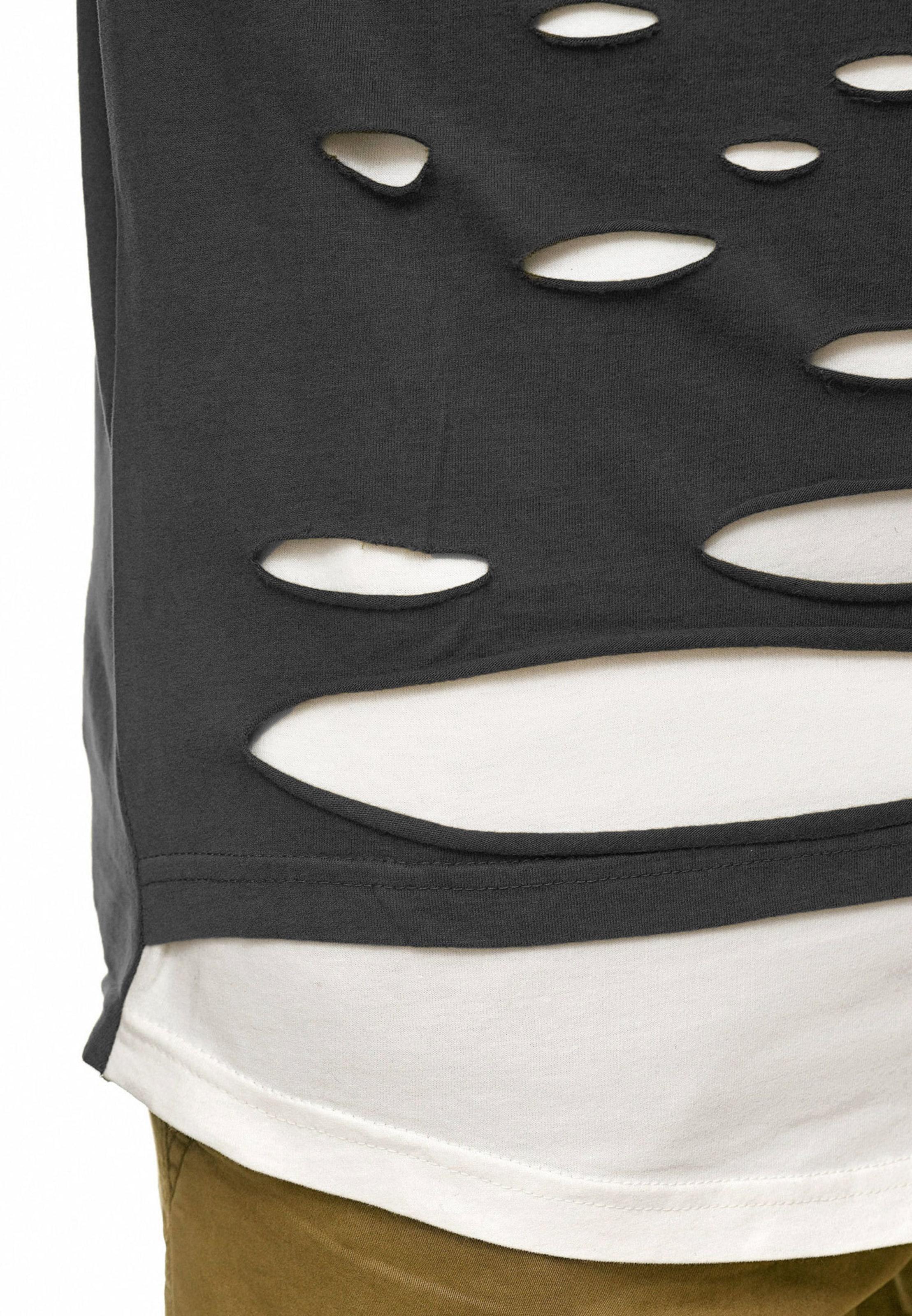 shirt Indicode Gris 'lund' FoncéBlanc En T Jeans PkOilwXuZT