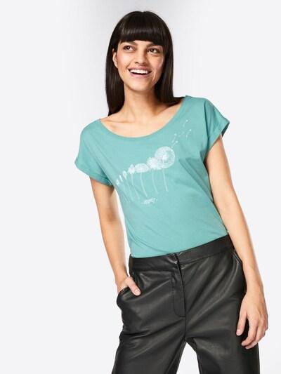 Iriedaily T-Shirt 'Evolution' in türkis / weiß: Frontalansicht