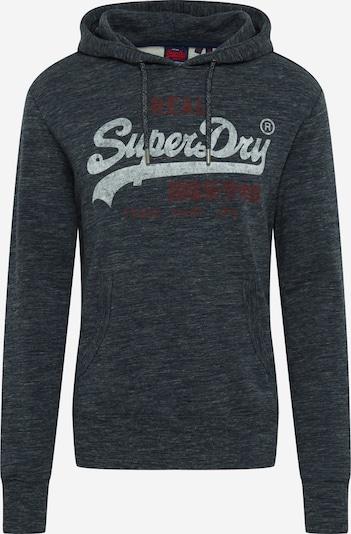 Superdry Sweat-shirt en bleu nuit / rouge foncé / blanc, Vue avec produit