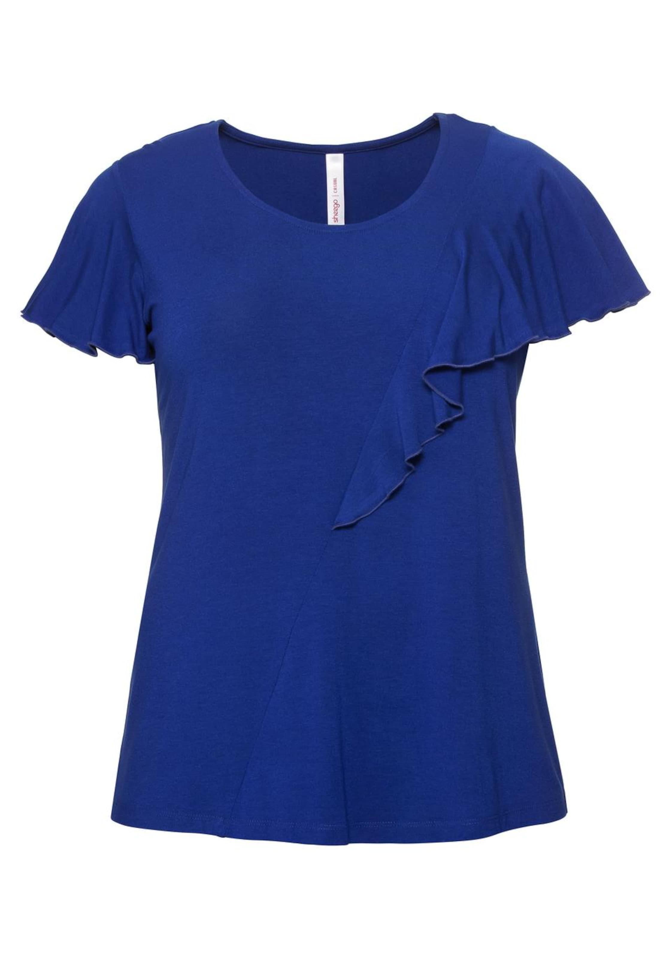 In Royalblau shirt T Sheego BtrCxshQd