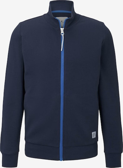 TOM TAILOR Sweatjacke in dunkelblau, Produktansicht