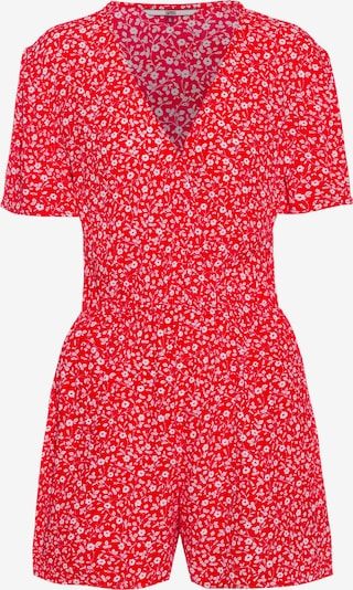 Tommy Jeans Overall 'TJW FLORAL PLAYSUIT' in rot, Produktansicht