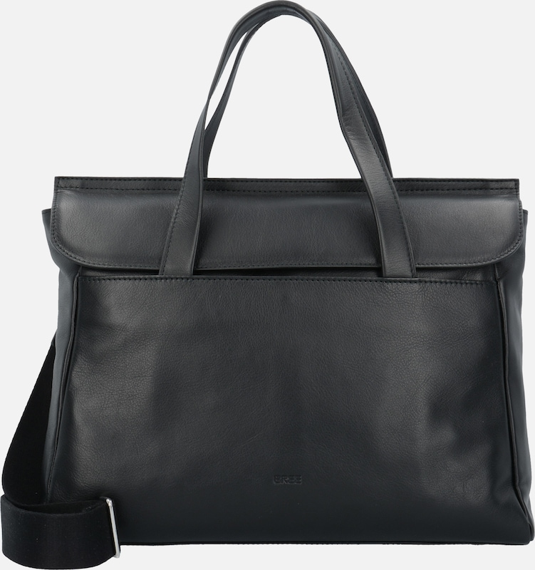 BREE 'Stockholm 45' Handtasche Leder 38 cm Laptopfach
