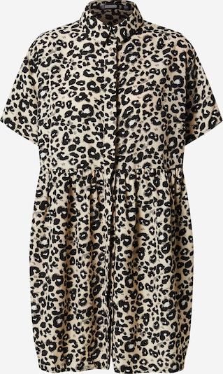 Missguided Robe-chemise en beige / gris / noir, Vue avec produit