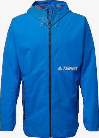 adidas Terrex Regenjacke in Blau