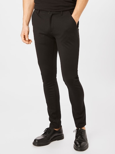 Denim Project Chino kalhoty 'Ponte Roma Plain' - černá, Model/ka