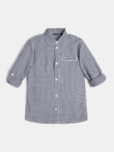 GUESS KIDS Hemd 'Popeline' in nachtblau / weiß, Produktansicht