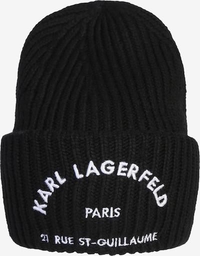 Karl Lagerfeld Bonnet 'Rue st guillaume' en noir / blanc, Vue avec produit