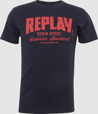 REPLAY Shirt in Donkerblauw