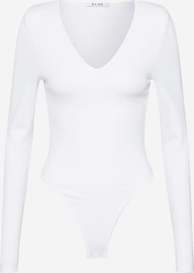 NA-KD Tričkové body 'power shoulder bodysuit' - bílá, Produkt