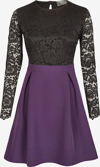 Nicowa Kleid 'OTEMI' in dunkellila / schwarz, Produktansicht
