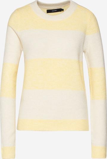 VERO MODA Pullover 'VMPLEASENT' in creme / gelb, Produktansicht