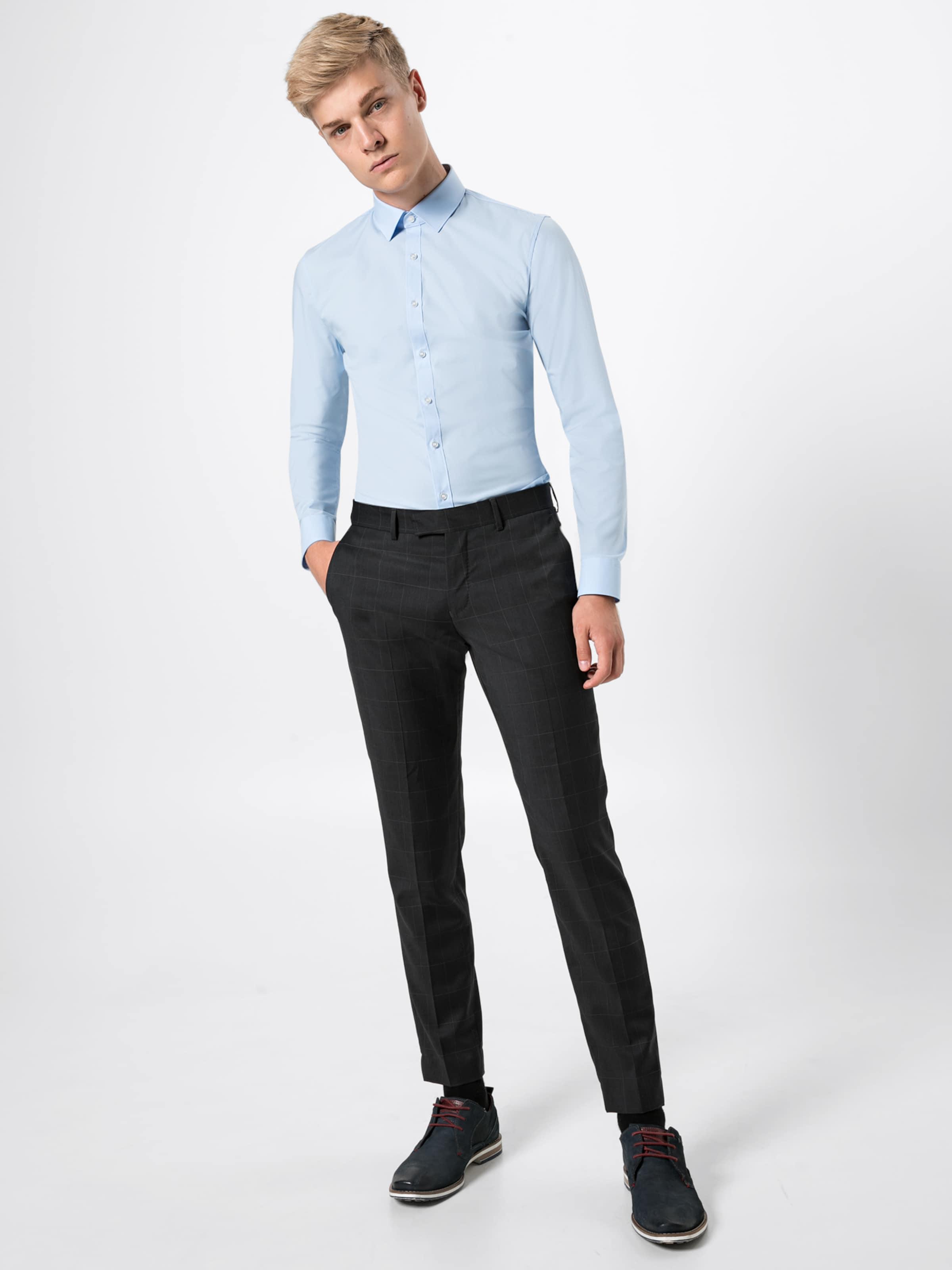 Olymp 'no6 In Uni Hemd Pop' Blau hsQdCtxr
