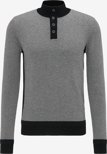 DREIMASTER Pullover in grau / schwarz, Produktansicht
