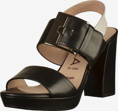 GADEA Sandalen in schwarz / naturweiß, Produktansicht