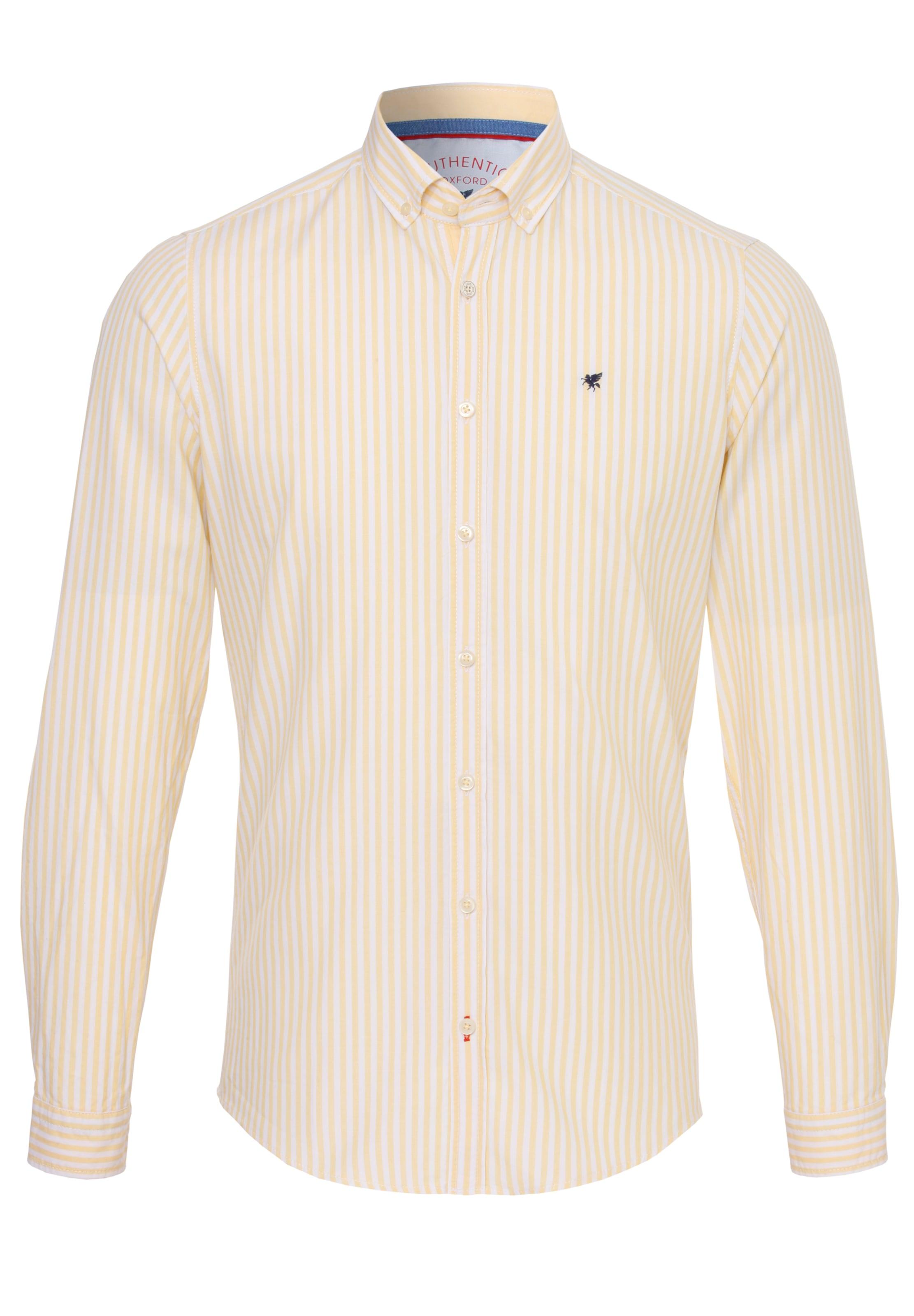 Oxford Pure GelbWollweiß Cooles hemd In dxBoWQrCeE