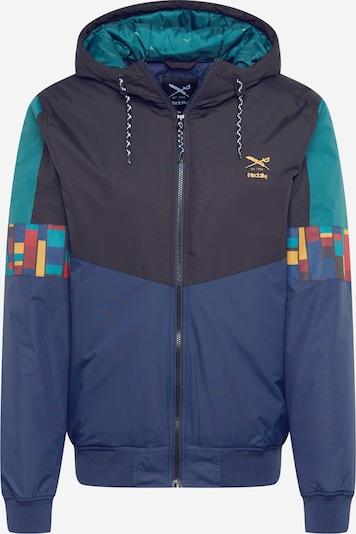 Iriedaily Prijelazna jakna 'Love Or Leave' u mornarsko plava / noćno plava / pastelno plava / žuta / miks boja, Pregled proizvoda