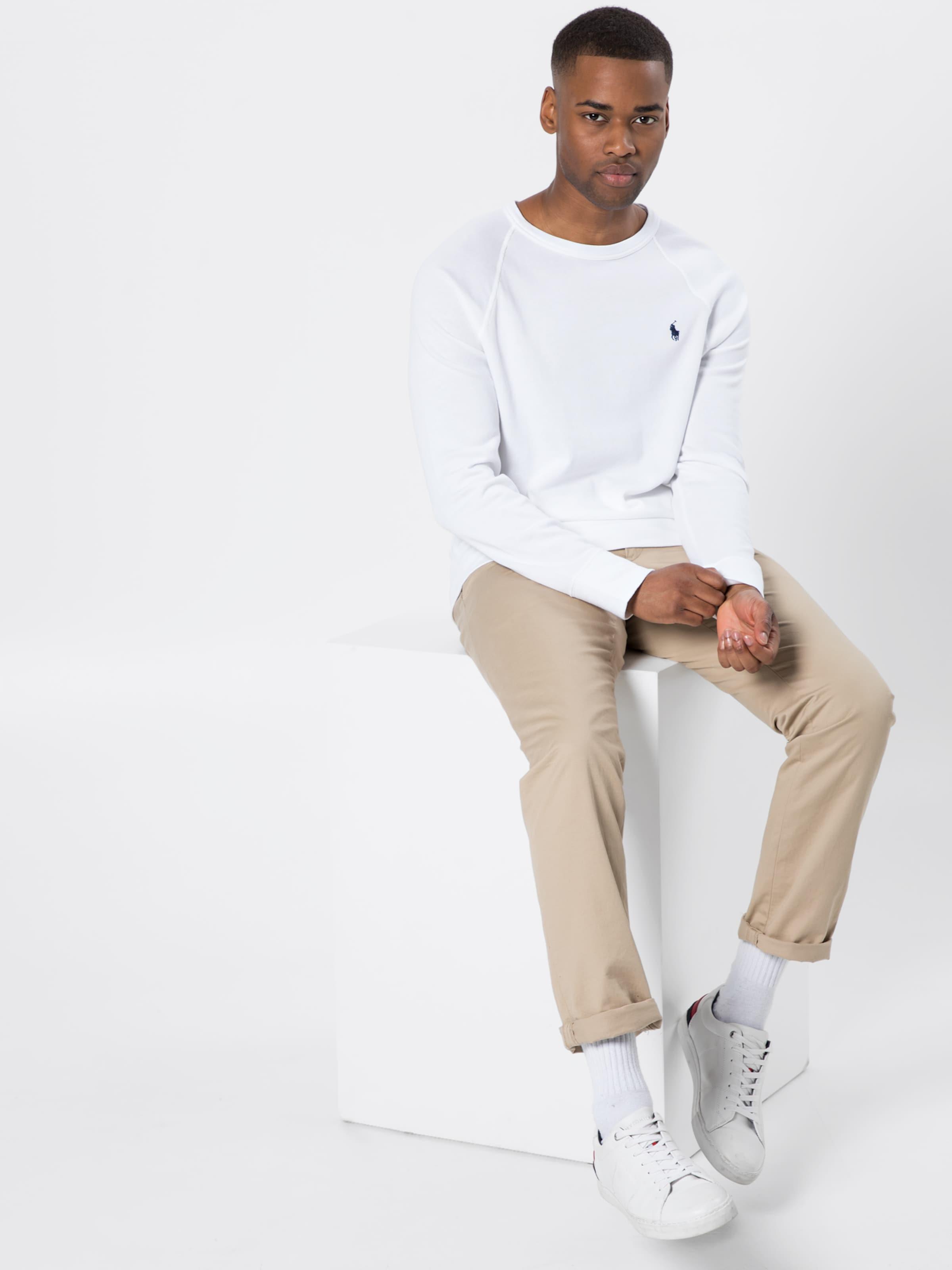 Polo Weiß knit long Lauren Sweatshirt 'lscnm1 Ralph K191sc12' In Sleeve hsrdtQ