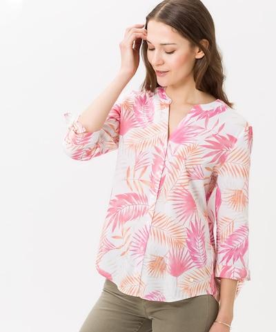 BRAX Bluse 'Velia' in koralle / pink / weiß, Modelansicht