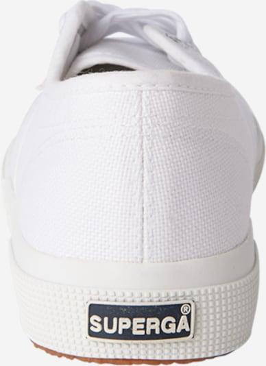 Sneaker bassa SUPERGA di colore bianco: Vista da dietro