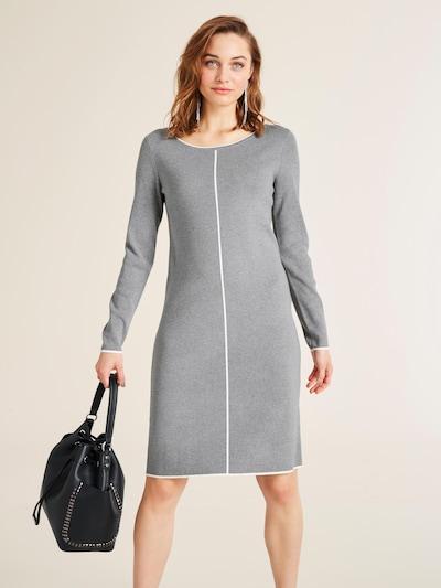 heine Úpletové šaty - šedá / bílá, Model/ka